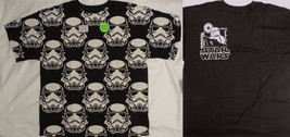 Star Wars Stormtroopers Stormtrooper Face All Over Glows In Dark T-Shirt - $18.75+