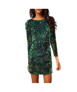 Two Wear Spring Autumn Women Slim Sheath Dresses V Neck Sequined Dress F... - $25.50