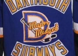 Sidney Crosby Dartmouth Subways Retro Hockey Jersey New Blue Any Size image 3