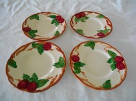 "Set 4 Franciscan Apple Dinnerware Bread & Butter Dessert Plates 6 1/4"" TV Mark - $8.81"