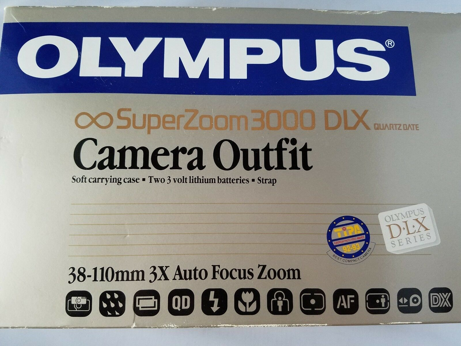 Olympus Super Zoom 3000 Camera + Assorted Photography Accessories Filters Cases