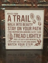 Advice From A Trail, Primitives By Kathy Wood Box Sign, New - $10.84