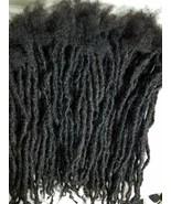 100% Human Hair handmade Dreadlocks 6 pieces  stretch10-11'' black - $32.50