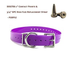 "DOGTRA 1"" Contact Points & 3/4"" SPC High Flex Replacement Strap - Dark Purple"