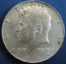 1965 Kennedy - Some Toning - Half Dollar - 40% SILVER - (sku#4880) - $7.50