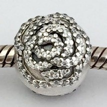 Authentic Pandora Shimmering Rose Clip, Sterling Silver, 791529CZ New - $31.48