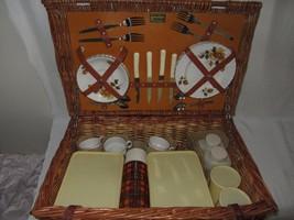 Brexton Ravinia Picnic Vtg Set Yellow Rose Royal Tudor Stoneware Barker ... - $128.69