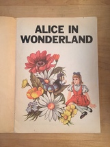 1969 Alice in Wonderland Illustrated Happiness Story Book image 2