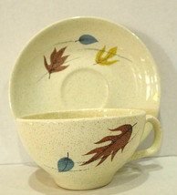 Franciscan Autumn Leaves Cup and Saucer Set Coffee or Tea Mid Century Modern - $3.91