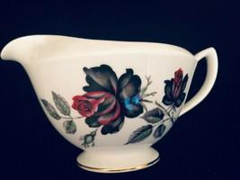 "Royal Albert Bone China Creamer or Gravy Boat Trim Gold Red Roses 3-3/4"" - $32.90"