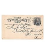 UX5 Postal Card 1881 Allegheny PA Fancy Negative A Cancel DPO Garfield D... - £16.83 GBP