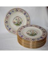 Set of 12 Belleek Coxon D-1071 Dinner Plates - $1,200.00
