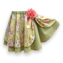 Circle Skirt Girl Size 6, Pull-On Twirl Skirt With Elastic Waist - $45.00