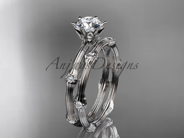 Platinum  diamond vine wedding ring set ADLR38S - $2,420.00