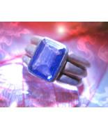 Haunted ring WEALTH & PROSPERITY DJINN VESSEL MALE Genie 925 AMETHYST Ca... - $200.00