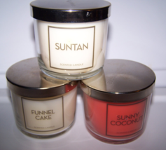 Lot of 3 Bath & Body Works Scented Candle- Suntan, Sunny Coconut, Funnel... - $22.50