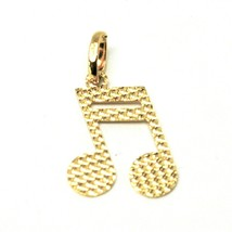 Pendant A Note Musical Gold 18K 750 Music Note Worked Made In Italy - $66.41