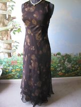 Ann Taylor Loft  Women Brown Floral Cocktail Dress SZ 8 - $46.32