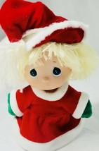 Precious Moments Christmas Holiday Doll Red Hat Dress Santa Collectible ... - $8.90