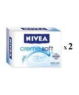 2 X NIVEA SOAP CREME SOFT CREME SOAP BATHING BAR NORMAL TO DRY SKIN 75GM... - $6.75