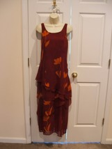 new in pkg  org. $119 newport news tiered sheer maxi dress  size 6 - $48.51