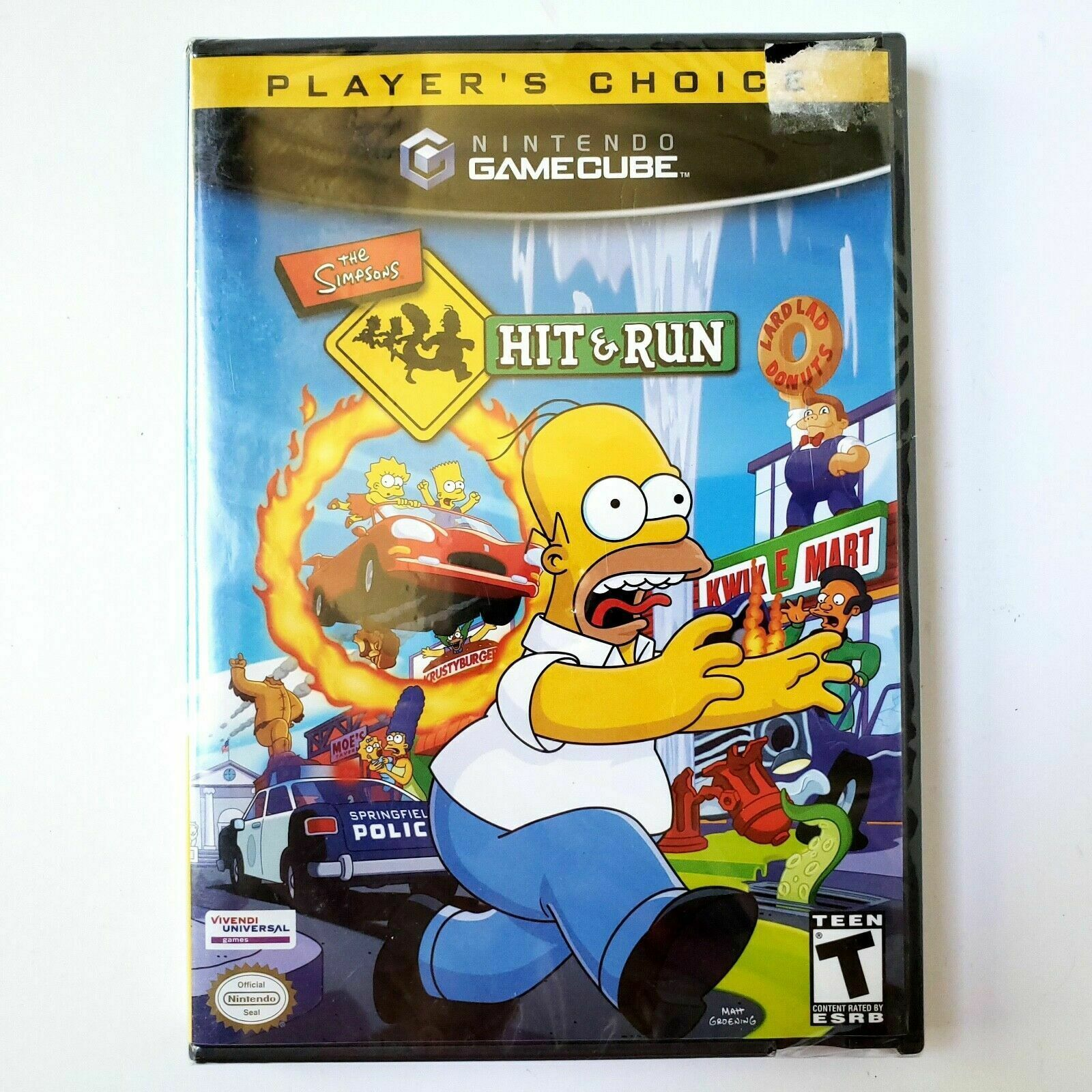 The Simpsons: Hit & Run Players Choice (Nintendo GameCube 2003) Brand New Sealed