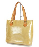 Authentic LOUIS VUITTON Houston Beige Vernis Leather Tote Bag Purse #32585 - $229.00