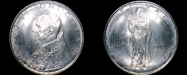 1965 Vatican City 100 Lire World Coin - Catholic Church Italy - $11.99