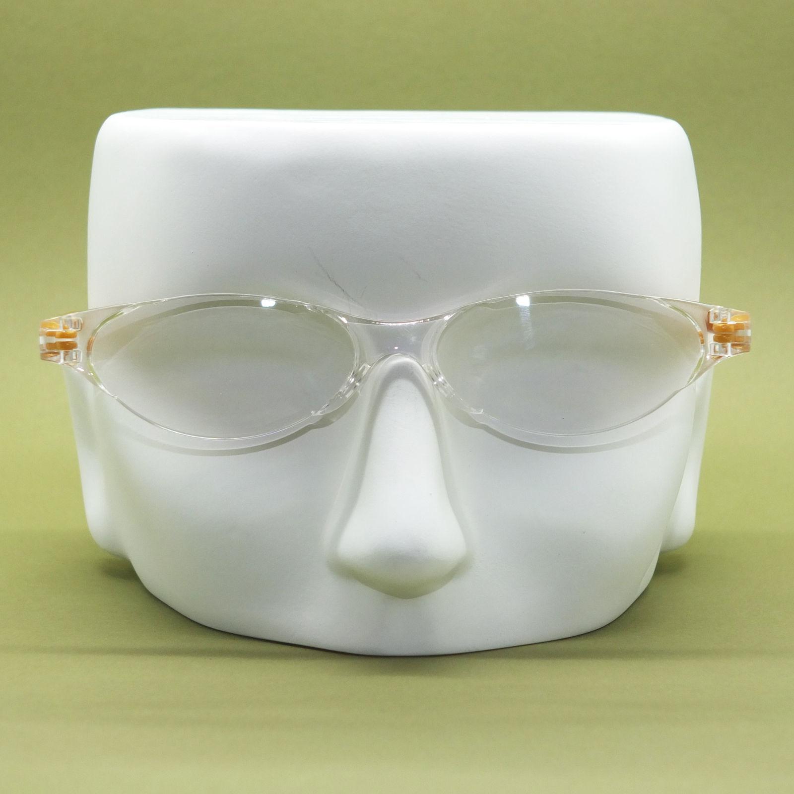 Frameless Modern Cat Eye Reading Glasses Pearly Glitter Gold Side Arms +2.50