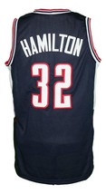 Daniel Hamilton #32 College Basketball Jersey Sewn Navy Blue Any Size image 2