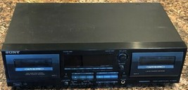 Sony TC-WR565 Auto Reverse Stereo Dual Cassette Deck For Parts Repair Po... - $29.39