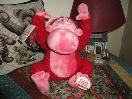 Hallmark Dancing Musical Pink APE MONKEY Singing Shout  - $33.69