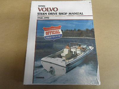 1968-1993 Clymer Volvo Stern Drive Service Shop Reparatur Manuell B770 Neu