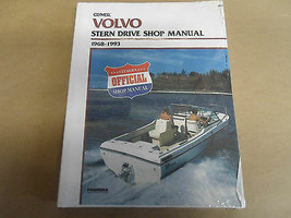 1968-1993 Clymer Volvo Stern Drive Service Shop Reparatur Manuell B770 Neu image 1