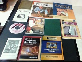7 Books & 4 DVDs on Woodworking Some Vintage, Hand Tools, Cabinet, Turni... - $29.65