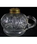 Rare Antique Corn Flat Hand Finger Oil Kerosene Lamp Dated on Bottom Feb... - $174.24