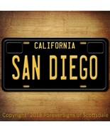 San Diego California State/College Vanity License Plate Black - $12.82