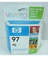 HP 97 Vivera Ink Cartridge Large - Tri-Color- Unopened Feb 2007 Singapore - $12.19