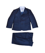 New Blue 5 Piece Boy Suits Boys Wedding Suit Page Boy Party Prom 2-12 Years - $31.27+