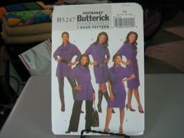 Butterick B5247 Misses Cowl Neck Tunic, Dress & Belt Pattern - Size 8-14 - $8.90
