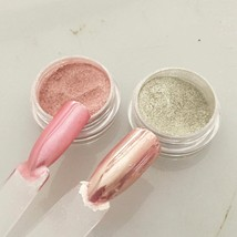 Nail Powder Art Pigment Chrome Mirror Effect Glitter Dust Silver Rose Go... - $9.88