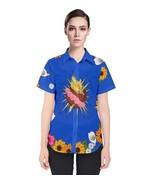 Romeo Sacred Heart Button Up Womens T Shirt XS-3XL - MADE TO ORDER - $37.99+