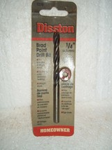 "Bnip Nos Disston 1/4"" Brad Point Drill Bit For Wood Drilling #5270 4""LONG France - $14.25"