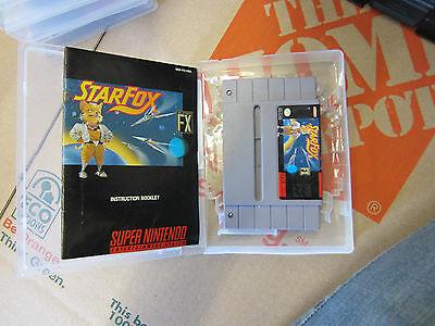 Starfox Star Fox Super Nintendo Snes Video Game Cartouche W/Manuel Vintage Rare