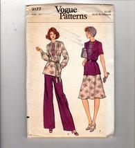 Vogue Patterns 9177 70s Boho Gypsy Tunic Top Skirt Pants Size 14 VTG Uncut - $12.38