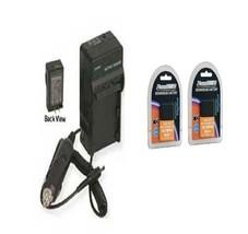 2 Batteries + Charger for Olympus E-620 PEN Digital E-P1 E-P2 E-PL2 E-P3 E-PL3 - $33.24