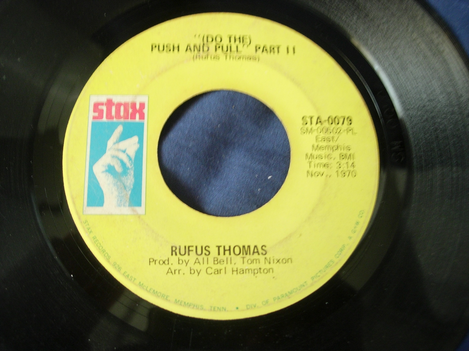 Rufus Thomas - (Do the) Push and Pull, Part I & Part II - Stax Records STA-0079
