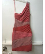 BCBG MAX AZRIA Dress XS Extra Small KIRA One Shoulder Coral Pink MSRP $3... - $99.95