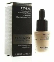 Algenist Reveal Concentrated Luminizing Drops Champage Full Size .5 oz NEW Boxed image 2