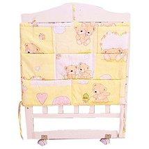 Cartoon Bear Baby Bedside Infant Multilayer Pouch Diaper Bag Storage Bag